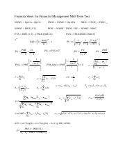Formula Sheet for MidTerm (1)