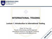 Meeting-Introduction to international business
