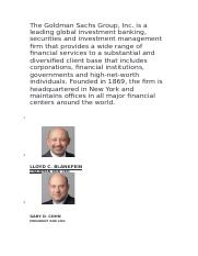 The Goldman Sachs Group.docx