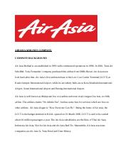 AIR ASIA AIRLINES COMPANY.docx