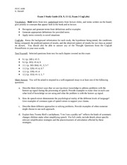 Cognitive Exam 3 study guide
