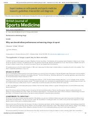 Why we should allow performance enhancing drugs in sport -- Savulescu et al
