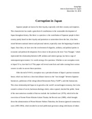 corruption in Japan.docx