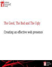 Week 3_Lecture 1_BIS247_Good_Bad_Ugly_Create Queries.pptx