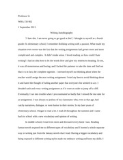 writing autobiography literacy autobiography writing american  writing autobiography literacy autobiography writing american thought professor li wra 150 002 1 2013 writing autobiography i hate this i
