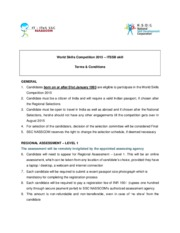 WSC 2015 - ITSSB skill - Terms  & Conditions(1)