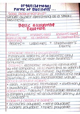 Organizational Forms of Business Notes ACC 2301