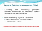 Customer Relationship Management (CRM) (Presentation)