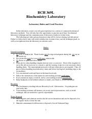 lab rules and practices