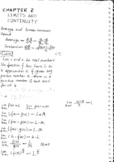 Calc Chapter 2 and 3 Class Notes