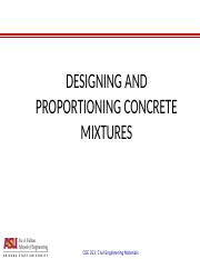 CEE 353 - Mix proportioning.ppt