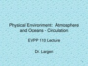 EVPP 110 Lecture - Physical Environment - Atmosphere and Ocean Circulation - Student - Summer 2015