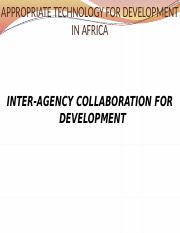 Lecture 5 Approtech-Inter-agency collaboration