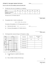 Descriptive Statistics Test Review