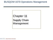 1070 CH 11 Supply Chain Management 2014