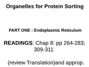 Protein Trafficking I