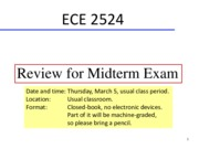 08 - Review for Midterm