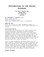 Intro to ISS Syllabus - Spring 2014