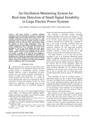 An Oscillation Monitoring System for Real-time Detection of Small-Signal Instability in Large Electr