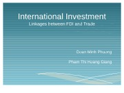 International Investment_FDI and trade.group5