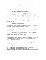 Lecture 2 Problems