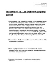Williamson vs. Lee Optical Company (Case Brief 3)