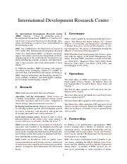 1970 International Development Research Centre (IDRC)