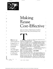 Making Reuse Cost-Effective