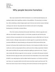 why people beome homeless