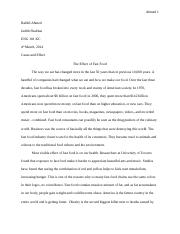 Essay 02_The Effect of Fast Food