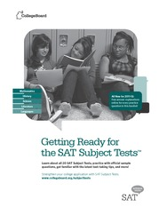 Getting Ready For The SAT2 (2011-2012)