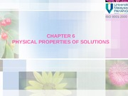 CHAPTER 6 physical properties of solution