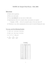 sample2final (Math 121)