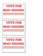 vote for mao-zadong