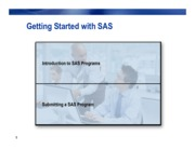 Getting Started with SAS
