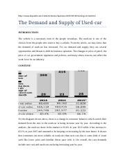 demand and supply of used car