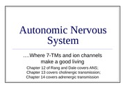 8) September 24 - Autonomic Nervous System