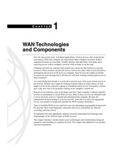 WAN Technology & Compnents