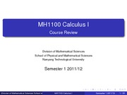 MH1100_2011_sem1_Course_Review_Nov. 10_2011