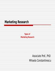 Cerc (ZI - eng) - course 2 (types of marketing research).ppt