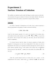 Exp-2 Surface tension of solution
