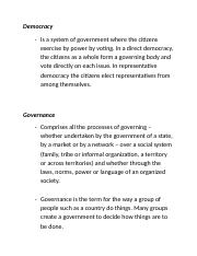 Democracy and Governance.docx
