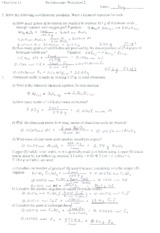 Chem 11 Stoichiometry Worksheet 2 Answers Chemistry 11 Stoichiometry Worksheet 2 Name Kw V L Solve The Following Stoichiometry Problems Write A Course Hero