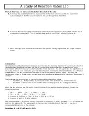 A Study of Reaction Rates Lab.doc