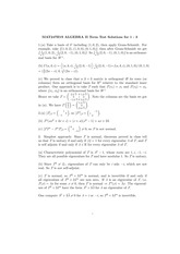 MAT247H1S ALGEBRA II Term Test Solutions for 1 - 3