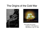 Lecture 12 The Origins of the Cold War pdf version