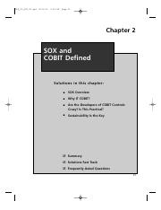 Week 6 SOX and COBIT Defined