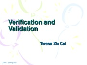 Lecuture 12 Verification and Validation
