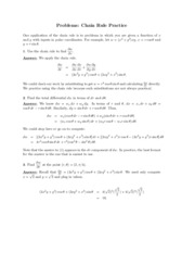 Chain Rule problems study guide