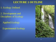 Biology 357 Lecture 1